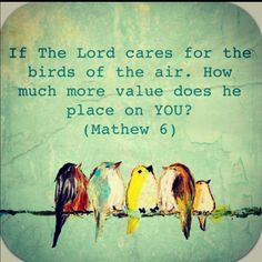 The Lord cares for us