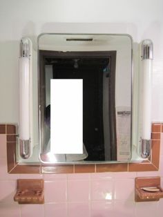 Genial Vintage 1950s Art Deco Lighted Chrome Mirror Medicine Cabinet OMG My  Bathroom Vanity Looks Exactly Like This!!!