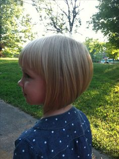 My little girl's inverted bob with bangs <3 such a cute haircut I may get it myself! Hehe