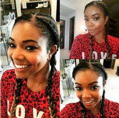 THANK GABRIELLE UNION FOR MAKING GHANA BRAIDS THE 'IT' NATURAL HAIRSTYLE THIS SUMMER