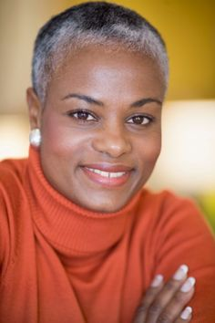 gray haired black women | Gray Hairstyles Pictures - Gray Hair on Black Women
