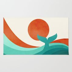Wave (day) Rug by Jay Fleck. Worldwide shipping available at Society6.com. Just one of millions of high quality products available.
