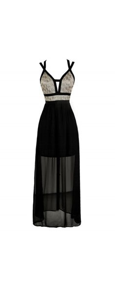 Evening Enchantress Textured Shimmer Maxi Dress in Black/Gold  www.lilyboutique.com