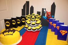 NEW Superman Birthday Party Package, Superman Party Hats, Superman Goodie Bags, Superman Cupcake Toppers 36 Pieces. $155.00, via Etsy.
