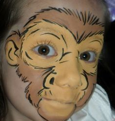 When you think about face painting designs, you probably think about simple kids face painting designs. Many people do not realize that face painting designs go Face Painting Designs, Paint Designs, Body Painting, Looks Halloween, Halloween Makeup, Halloween Face, Animal Face Paintings, Animal Faces, Monkey Face Paint