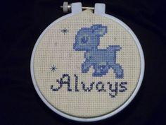 always. doe: Harry Potter cross stitch.