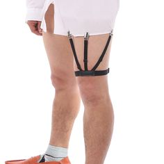 Apparel Accessories Mantieqingway Nylon Shirts Holders Suspensorio For Mens Elastic Business Garter Braces Adjustable Legs Shirts Suspenders Durable Modeling Men's Accessories