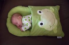 A pillow case remade...perfect for traveling and naps... Good idea for a baby shower:-)