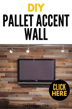 See how to make an amazing accent wall using pallets. It's so simple and easy you can easily do this as a weekend project. Best of all, it's a cheap project Pallet Accent Wall, Diy Pallet Wall, Diy Pallet Projects, Accent Walls, Pallet Ideas, Handmade Home Decor, Cheap Home Decor, Diy Home Decor, Wood Pallets
