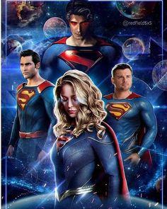 Crisis on infinite earth Supergirl Characters, Supergirl Comic, Dc Comics Vs Marvel, Arte Dc Comics, Brandon Routh, Melissa Benoist, Crossover, Superman Artwork, Supergirl Season