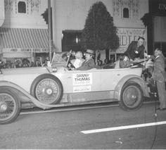 1973 Danny Thomas In the Christmas Santa Claus Lane Parade on Hollywood Blvd.