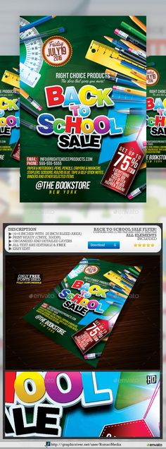 Back To School Kids Party Flyer Template Psd | Party Flyer, School