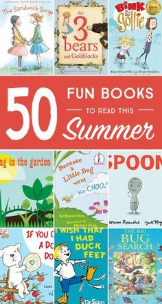 50 Fun Books to Read this Summer. Kids will love these great books! Summer reading list for kids.
