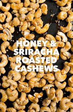 Honey and Sriracha Roasted Cashews