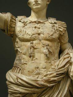 Detalle coraza del Augusto de Prima Porta.