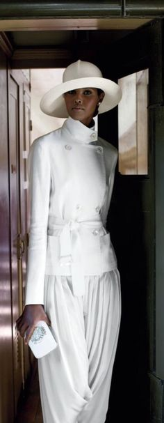 Ralph Lauren ~ Resort Summer White Satin Everything but the pants you'd have to be a size 2 to wear those!