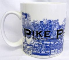 #Starbucks #Coffee Mug Pike Place Market Seattle City Cup 18 oz Birthplace 2005