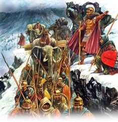 Peter Dennis. Hannibal crosses the Alps Punic Wars, Historia Universal, Roman Empire, History Photos, Dark Ages, Historical Pictures, Ancient Civilizations, Ancient Greece, Military History