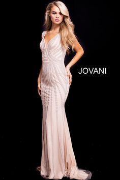 44246879212 Jovani 55926 silver prom dress on sale - Mia Bella Couture
