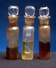 Perfume vials recovered from the wreckage of the Titanic, laid on ocean floor for 88 years before being recovered