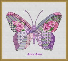 Cross Stitch Pattern Butterfly Patchwork Lilac fantasy vintage designed by me, so you have a unique opportunity to get an exclusive product.  Colors – 17  Fabric: 14 count White Aida Stitches: 131 x 96 Size: 9.36 x 6.86 inches or 23.77 x 17.42 cm Colours: DMC Fabric: 16 count White Aida Stitches: 131 x 96 Size: 8,19 x 6.00 inches or 20,8x 15,24 cm Colours: DMC   PDF Pattern includes:  1. Enlarged Chart of the Design in Color coded symbols and in Black and White symbols. 2. List of DMC…