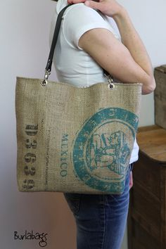Eco Friendly Burlap Coffee Sack Classic Tote by Burlabags on Etsy, $69.00