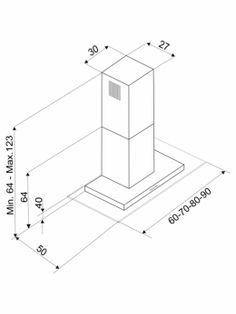 BLT VD BX  - COIFA DE PAREDE COM VIDRO RETO ADVANCE - nicho - Built Eletrodomésticos