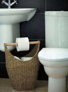 Seagrass toilet roll holder