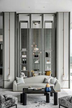 Modern Classic Interior, Contemporary Interior Design, Luxury Interior Design, Interior Design Living Room, Modern Classic Bedroom, Showroom Interior Design, Lobby Interior, Modern Contemporary, Neoclassical Interior Design