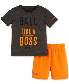 6b6b08e845c6 Under Armour Baby Boys  2-Piece Ball Like a Boss T-Shirt  amp