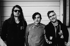 Bert McCracken, Frank Iero, and some other guy I don't know lol