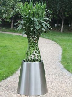 52 Best Stainless steel planters,pots and containers,Metal planters Stainless Steel Bird House Planters Html on