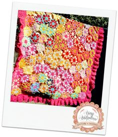 Crochet Handmade Baby Hippy flowers multicolor Blanket, Coperta all'uncinetto con fiori colorati bimba bambina, fatto a mano