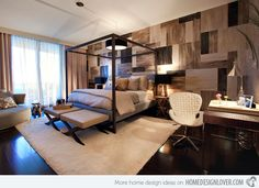 20 Modern Contemporary Masculine Bedrooms | Home Design Lover - It's supposed to be targeted for men but I love this bedroom!