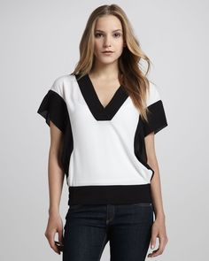 cooper & ella | lily combo blouse $88