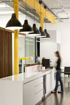Woodhead has recently completed the design and fitout of a great new workspace for WSP Group in Adelaide. The design features open space, amazing wood flooring, and bright pops of color. Industrial Cafe, Industrial Apartment, Industrial Bedroom, Industrial Office, Industrial Interiors, Industrial Stairs, Industrial Style, Industrial Design, Industrial Closet