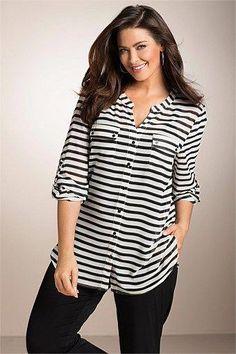 Plus Size Women's Fashion - Sara Soft Shirt Winter Outfits For Girls, Girl Outfits, Fashion Outfits, Women's Fashion, Fashion Stores, Womens Clothing Stores, Clothes For Women, Golf Clothing, Women's Clothes