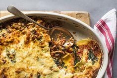 Spinach and mushroom lasagne