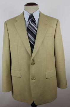 Lauren Ralph Lauren Green Label Blazer Sport Coat size 40R Beige 2 Button #LaurenRalphLauren #TwoButton