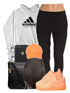 """"" by yeauxbriana on Polyvore featuring MICHAEL Michael Kors, SELECTED and NIKE"