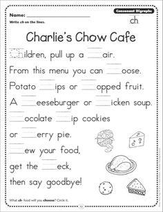 Sh Poem Digraph  Google Search  Kindergarten Literacy Center