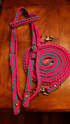 Horse Tack: Paracord Bridle/ Barrel Reins -Standard Horse size BRIDLE w/ BARREL REINS made of 550 paracord, adjustable buckles, Bolt snaps by GypsysEquinePARATack on Etsy