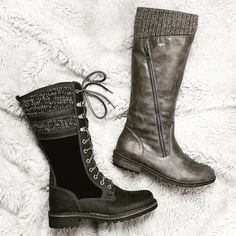 Love these waterproof cozy sweater boots. This is what fall is all about. #fall #boots #shoes #sweater boots #instashoes @rieker_group @flylondonnyc #bosandco #winter #warm #cozy