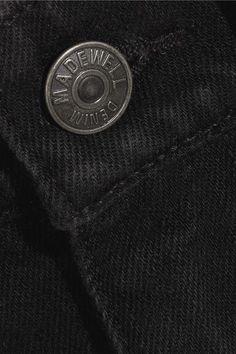 Madewell - Frayed Denim Mini Skirt - Black - 29