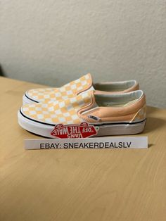 341ce275c35 Athletic Shoes · Vans Classic Slip-On (Checkerboard) Bleached A VN000EYEBWW   fashion  clothing