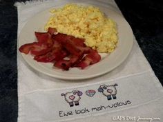 Perfectly Scrambled Eggs and Bacon