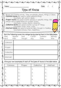 Worksheets Types Of Nouns Worksheet do tornadoes really twist task cards design poster and abstract introduce your students to the 4 different types of nouns with this worksheet help students