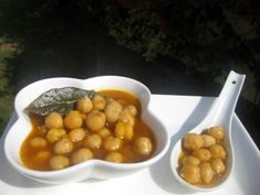 Garbanzos guisados (Thermomix) Vegan Challenge, Spanish Food, Chana Masala, Soups And Stews, Spicy, Healthy Eating, Yummy Food, Vegetables, Cooking