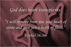 God Does Heart Transplants Ezekiel 36:26