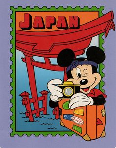 Mickey in Japan postcard by starberryshyne, via Flickr